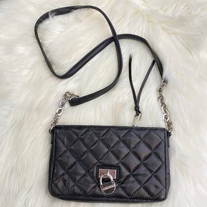 Calvin Klein Quilted Lamb Leather Crossbody Bag